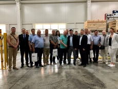 The inauguration of a sorting line in Moldova
